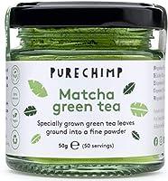 PureChimp Matcha Theepoeder 50 g | ceremoniële kwaliteit uit Japan | vrij van pesticiden | recyclebare glazen pot &...