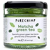 Matcha Green Tea Powder (Super Tea) 50g by PureChimp | Ceremonial Grade from