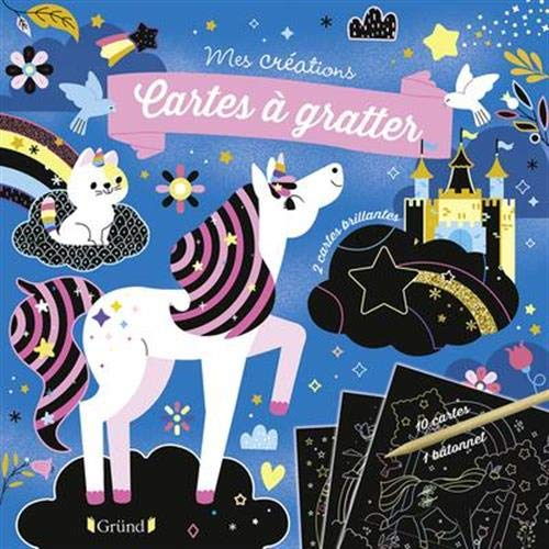 Cartes à gratter : Licornes et chevaux –...