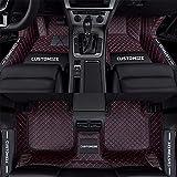 Tuqiang Alfombrillas de coche personalizadas para Volvo C30, C70, S40, S60, S80, S90, V40, V50, V60, XC40, XC60, XC70, XC90, resistentes al agua, antideslizantes, color negro y rojo
