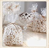 100 Clear Popcorn Favor Bags 4W'x2D'x8H' Poly & Gusseted