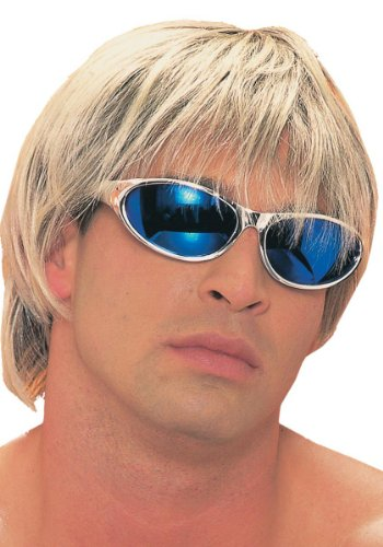 Adult Blonde with Brown Surfer Dude Costume Wig