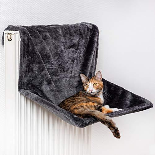 CanadianCat Company ® | XXL Hangmat | Cel of verwarming Deck voor grote katten | Antraciet - Dark Grey | aanpassing | 60 x 40 x 30 cm