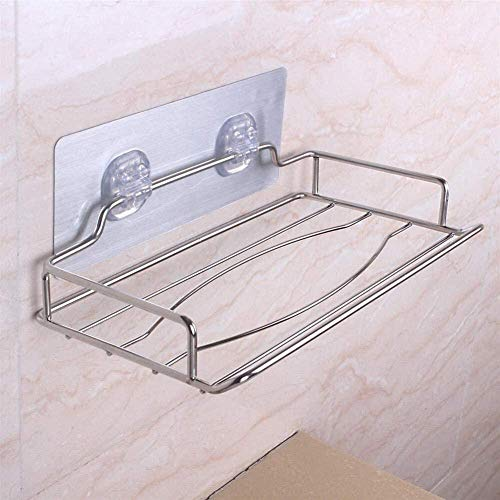 Toiletpapierhouder zelfklevend, met plank, aan de wand gemonteerd, geen boren, roestvrijstalen weefseldoos die roestvrije duurzaamheid garandeert