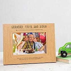 """Personalisierter Bilderrahmen""""Bester Opa"""" - Geburtstagsgeschenk, Weihnachtsgeschenk - Opa Geschenke - 10x15cm oder größer"""