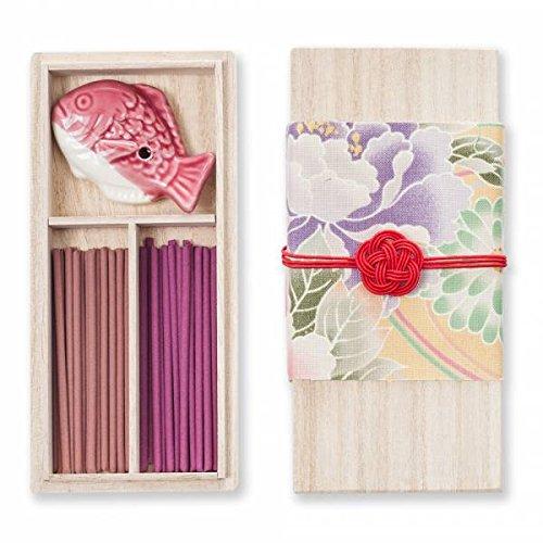 Kousaido Fleur Organique Prune Cadeau Bâton D'encens Japonais Mis avec Support