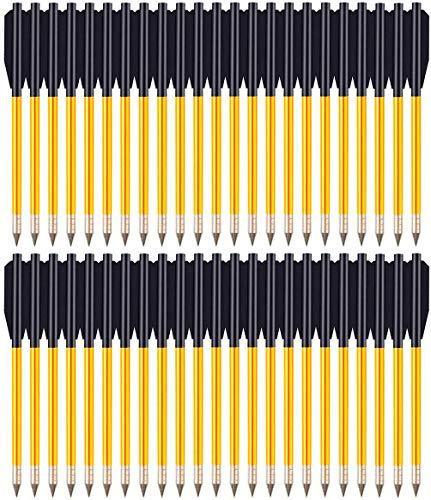 """DZGN 6.5\"""" Aluminium Armbrustbolzen Pfeile mit hohen Schlagbolzen 50 Pfunden und 80 Pfunden, für Mini Armbrust Jagd Pistole Präzision Ziel-Pfeil Bogenschießen,60 Pack"""