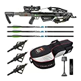 Killer Instinct Boss 405 FPS Crossbow Package with Backpack Case and Broadheads Bundle (3 Items)