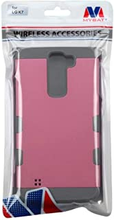 MyBat Cell Phone Case for LG K7 Tribute 5 - Retail Packaging - Gray/Pink