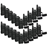 Retevis RT22 Walkie Talkies VOX 16CH 400-480MHz CTCSS/DCS 2 Way Radios (20 Pack) and Programming Cable