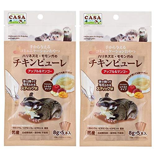 CASA(マルカン)ハリネズミ・モモンガのチキンピューレ(アップル&マンゴー) お得な2袋セット