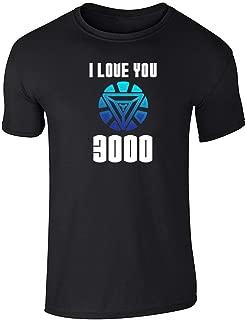 I Love You 3000 Father's Day Superhero Black L Short Sleeve T-Shirt