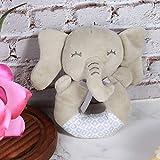 【𝐁𝐥𝐚𝐜𝐤 𝐅𝐫𝐢𝐝𝐚𝒚 𝐃𝐞𝐚𝐥𝐬】Nettes weiches bequemes Baby Rassel Handglocken PP Baumwolle Handglocken Spielzeug 0-3 Jahre altes Baby(Elephant)