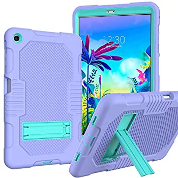 JSUSOU for LG gpad 5 10.1 Case | Kids Case for LG G Pad 5 10.1 inch | Heavy Duty Drop-Proof Rugged Protective Case with Kickstand Case Cover for LG gpad 5 10.1 FHD  2019  | Purple/Aqua