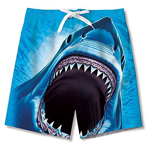 Idgreatim Jungen 3D Drucken Badehose Sommer Cool Quick Dry Board Shorts Badeanzug mit Seitentaschen