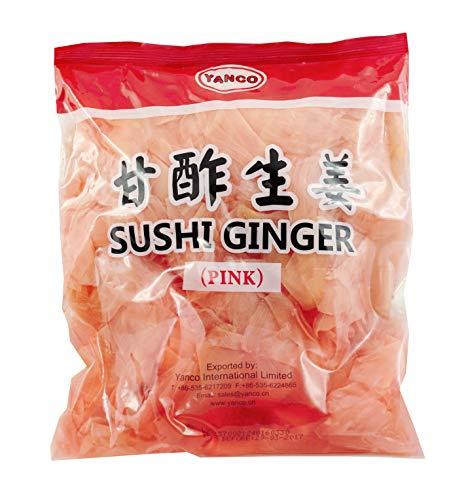 Yanco Pink Gari Konservierter Sushi-Ingwer - 1.5 kg, aus China