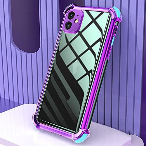 Custodia per telefono in silicone morbido antigoccia trasparente galvanica per iPhone 12 Pro 11 Pro max custodia 12mini X XR 6s 7 8 plus XS MAX, 5, per iphone12pro 6.1