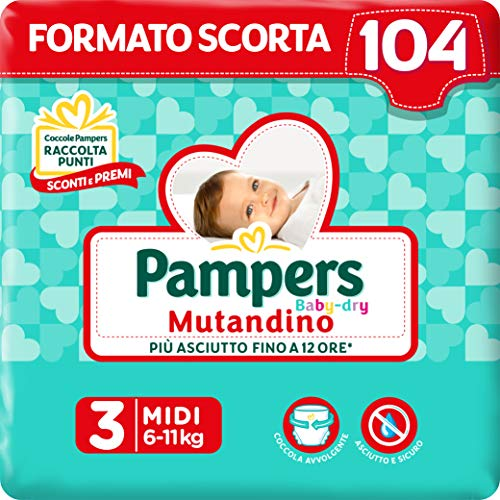 Pampers Baby Dry Culotte Taglia 3 (6-11 Kg)