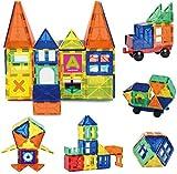 Innoo Tech Magnetische Bausteine, 60tlg Mini Konstruktionsbausteine, Inspirierende Bauklötze Baukasten, Magnetbausteine, Magnetspielzeug Lernspielzeug, Tolles Geschenk für Baby Kleinkind ab 3 Jahre