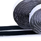 Hook and Loop Tape-Roll Self Adhesive Tape Strips Sticky Back Fastener, 1In x 41Feet