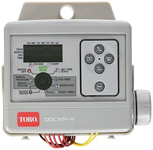 Programador de riego a batería totalmente estanco y sumergible para exterior de 4 estaciones. Con su ajuste sencillo del riego estacional, se incrementa el ahorro de agua usando una programación inteligente global. - OFERTA DESCUENTO
