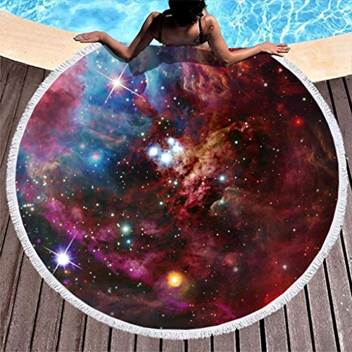 O5KFD&8 Galaxy Strandtuch Rund Strand Matte - Universe sandfrei Strandtücher 59