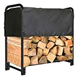 hykolity 4 ft. Firewood Log Rack with Cover, Heavy Duty Outdoor Firewood Storage...