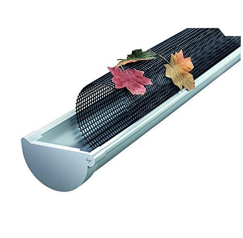 INEFA Laubfanggitter, Dachrinnenschutz NW150/180, 200cm, 10 Stück - Dachrinnenabdeckung, Laubschutz