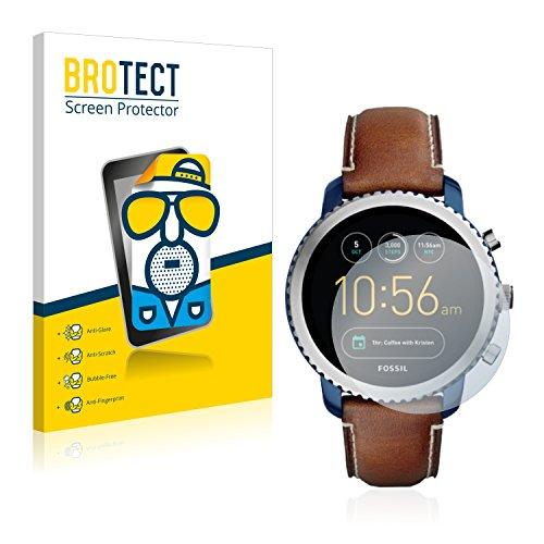 BROTECT 2X Entspiegelungs-Schutzfolie kompatibel mit Fossil Q Explorist (3.Gen) Bildschirmschutz-Folie Matt, Anti-Reflex, Anti-Fingerprint