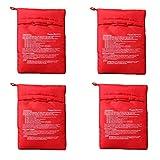 4 Pezzi Microonde Patate Bag, Borsa per Cottura Patate, Lavabile e Riutilizzabile Sacchetto per Patate Microonde, per Arrosto di Patate al Microonde