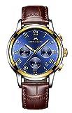 Herren Uhren Manner Wasserdicht Chronograph Designer Sport Leuchtende Armbanduhr Mann Business Mode Leder Analog Quarzwerk Uhr