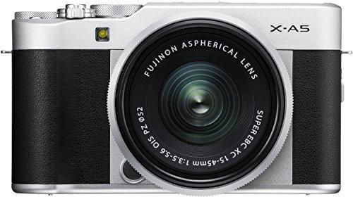 Fujifilm X-A5 Mirrorless Digital Camera w/XC15-45mmF3.5-5.6 OIS PZ Lens - Silver