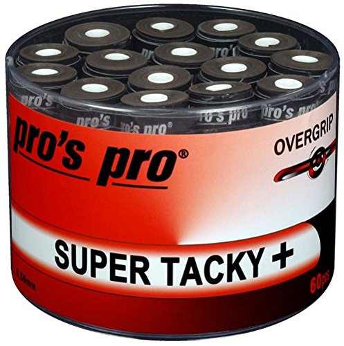 Pro 60 Overgrip Super Tacky Tape plus Tennis Pros Griffband schwarz