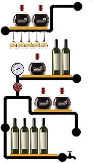 YZ-YUAN Casier à vin de Haute qualité Casier à vin Mural - pour Bouteilles de vin et Verres à Pied - Élégant Rangement en ...
