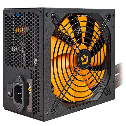 NJoy Woden 850 Alimentatore PC ATX 850W 80 Plus Gold PSU 12V, Silenzioso