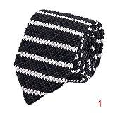 Fnsky - Corbata de crochet de punta, 7 cm, corbata de punta, estilo vintage, elegante e informal para hombres