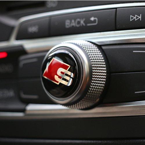 Appson 2Stück 3D Auto Audio Multimedia Lenkrad Tasten Aufkleber Größe 20mm