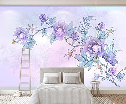 Papel Pintado 3D Mano Fresca Dibujada Acuarela Verde Fotomurales 3D Tv Fondo Pared Dormitorio Murales Papel Tapiz Moderno