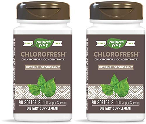 Nature's Way Chlorofresh Chlorophyll Concentrate (Pack of 2) with Soybean and Beeswax, 90 Softgels Each