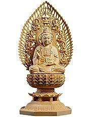 TheChanger 仏壇用のご本尊仏像 木彫りの仏像 大日如来 観音菩薩 地蔵菩薩 柘植 祈る