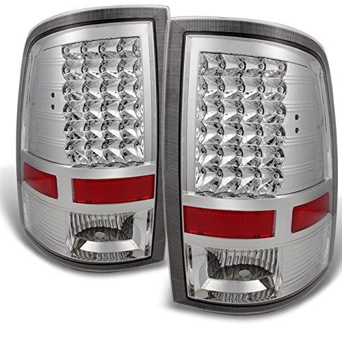 For 2009-2018 Dodge Ram 1500 10-18 Ram 2500 3500 Pickup Truck Rear LED Tail Lights Brake Lamps LH+RH Pair Set
