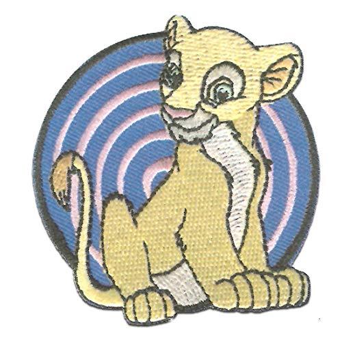 Disney El rey len Nala - Parches termoadhesivos bordados aplique para ropa, tamao: 6 x 6,5 cm