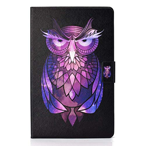 L&Btech Lenovo Tab M10 FHD Plus 10.3'' Case Slim PU Leather TB-X606 Folio Folding Stand Cover with Card Slot Multi-Viewing, for Lenovo Tab M10 Plus (2nd Gen) TB-X606F/TB-X606X - Purple owl