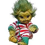 seasonsun Grinch Beb Juguetes, 20CM Renacido De La Mueca Realista Mueca De La Historieta, Sombrero con El Pelo Verde Renacido Beb Grinch Grinch Mueca Mueca Hecha A Mano Gran Regalo
