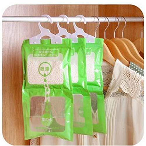 Ruluti Wardrobe Dehumidifier Dry Bag Clothes Moisture Absorption Hangin Drying Packs