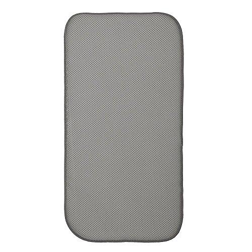 iDesign iDry Abtropfmatte klein, dünne Spülbeckenmatte aus Polyester zum schnellen Trocknen von Geschirr, zinn-/elfenbeinfarben