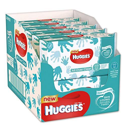 Huggies Baby-Feuchttücher All Over Clean, Für den ganzen Körper, 70% Zellstofffaser, Dezent und frisch, 10 x 56 Tücher, Monatsbox