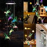 Solar Kolibri Lichterkette, ALLOMN LED Solar Windspiel Lichterkette Lichtsensorsteuerung Gartendeko Kolibri Solarleuchte für Outdoor Innenbeschwerden
