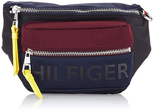 Tommy Hilfiger heren Bold Nylon Cb Crossbody munt portemonnee, zwart (Multi), 8.5x18x39 cm