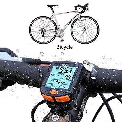Velocímetro para computadora de bicicleta, cuentakilómetros impermeable para bicicleta multifunción con pantalla...